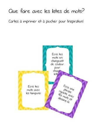 5 au quotidien: cartes d'activités du centre des mots | French Immersion education | Scoop.it