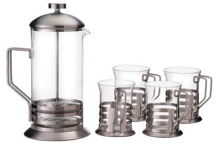 Primula Glass 8-Cup Coffee Press with 4 Matching Cups | Best Coffee Makers Reviews | Scoop.it