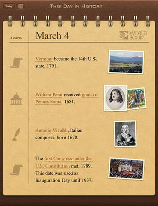 WORLD BOOK - This Day in History for iPad | The 21st Century | Scoop.it