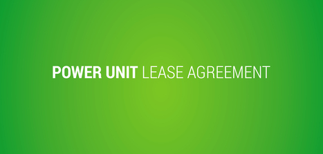 Power Unit Lease Agreement | Succes4you | Scoop.it