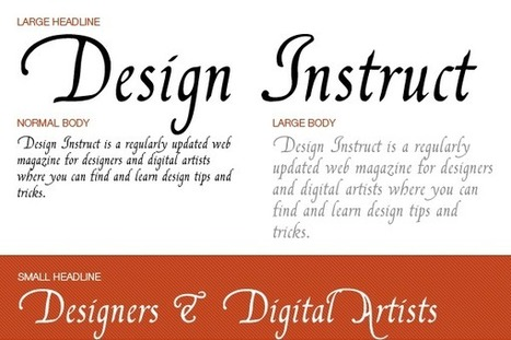 10 Free Calligraphy Fonts to Download | TIC_mv | Scoop.it