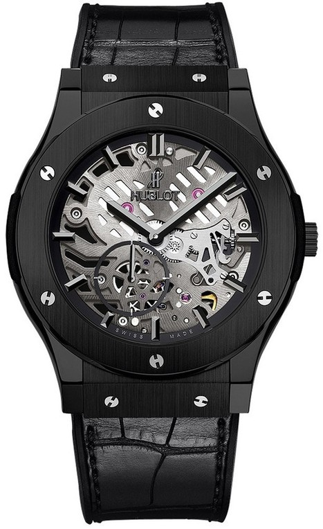 Hublot Classic Fusion Ultra-Thin All Black Skeleton Montre 515.CM.0140.LR Replique | Best Swiss Replica Watches From China | Scoop.it