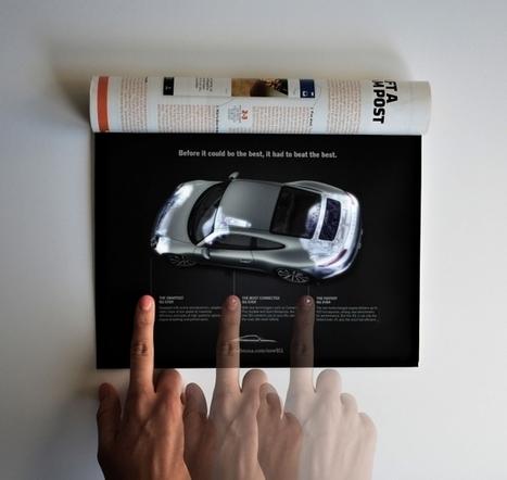 Print & Digital : Porsche illumine la publicité imprimée. | Typographie, Mise en page et ce qui m'intéresse | Scoop.it