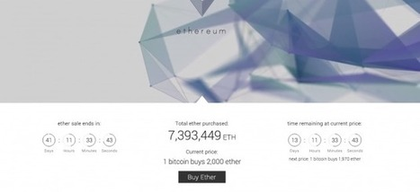 Ethereum Launches Own 'Ether' Coin, With Millions Already Sold | pumping society with stuff on a sleepness night | Scoop.it