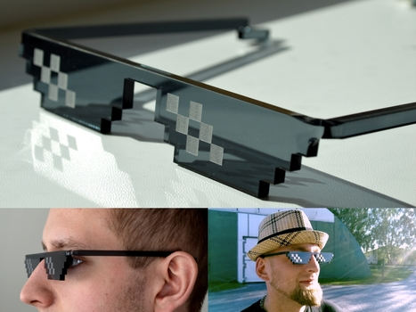 Deal With It sunglasses - CNC-Design Finland | Gadgetism | Scoop.it