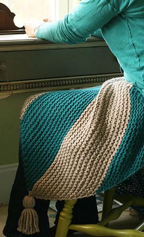 Bias Knit Lap Blanket   Fiber Arts   Scoop.it