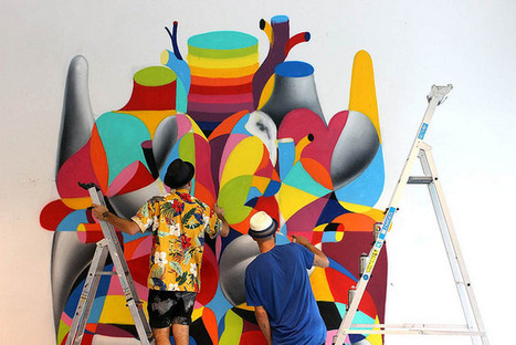 Madrid Artists Blend Contrasting Styles to Bring Colorful Street Art Murals to the World - PSFK | Digital-News on Scoop.it today | Scoop.it