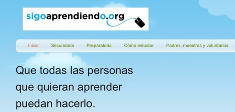 Versión mexicana de Khan Academy: Sigoaprendiendo.org | paprofes | Scoop.it