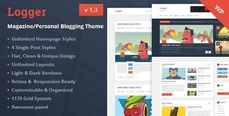 Logger v1.3 - Magazine/Personal Blogging Theme   Blog and Web Resources   Scoop.it