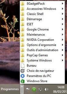 Un Menu Démarrer sur Windows 8 sans passer par un utilitaire | Gotta learn it | Scoop.it