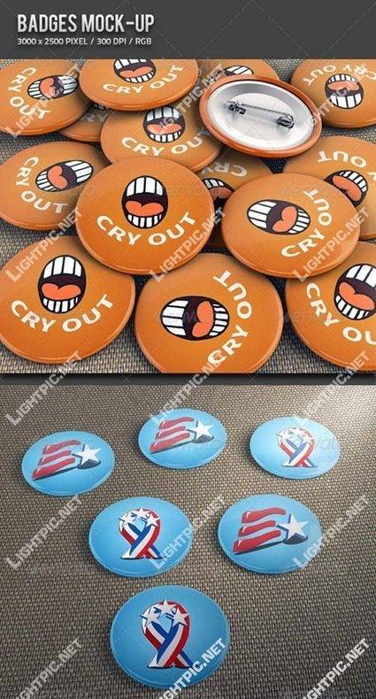 GraphicRiver Badges Mock-up   Tutoriales   Scoop.it