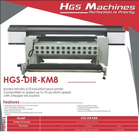 Dye Sublimation Printers by HGS Machines | HGS Machines Pvt Ltd | Scoop.it