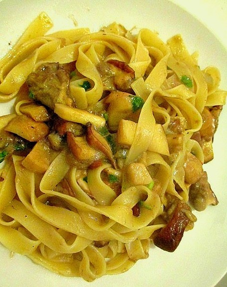Tagliatelli with Porcini Mushrooms | Le Marche and Food | Scoop.it