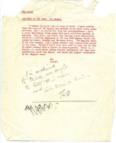 T. S. Eliot on Ted Hughes | Pens, Paper, Ink and Letters | Scoop.it