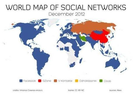 Τα δημοφιλέστερα κοινωνικά δίκτυα σε κάθε χώρα | Information Science | Scoop.it