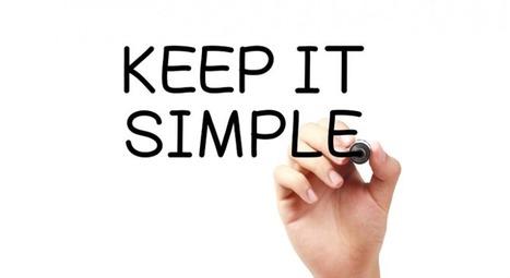Et si on faisait simple pour la rentrée ? | b-to-blog, le blog de l'efficacité commerciale | Pop Corn | Scoop.it
