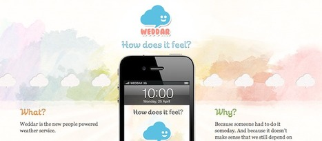 [Application] Weddar, la météo participative arrive en France | Technologie Au Quotidien | Scoop.it