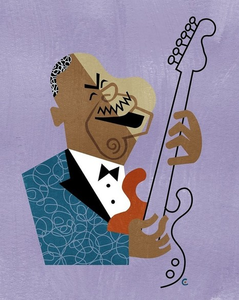 David Cowles Illustrations: B.B. King | Jazz Plus | Scoop.it