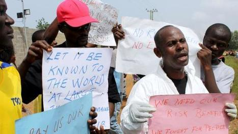 700 Liberian Ebola workers protest for hazard pay - Yahoo News | CLOVER ENTERPRISES ''THE ENTERTAINMENT OF CHOICE'' | Scoop.it
