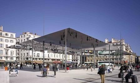[Marseille, France] Vieux Port Pavilion / Foster + Partners, Photos by Edmund Sumner | The Architecture of the City | Scoop.it