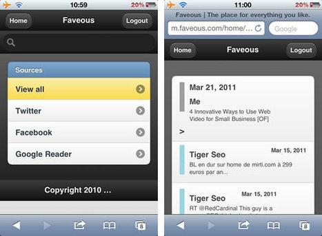 Faveous sauvegarde et organise vos favoris de réseaux sociaux | Geeks | Scoop.it