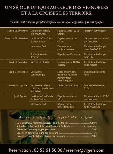 Le séjour du nouvel an du Château des Vigiers, hôtel**** golf et country club | Info-Luxe | L'actualité du tourisme et hotellerie par Château des Vigiers | Scoop.it