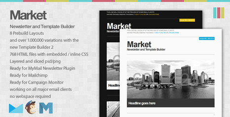 7 Most Beautifully Designed Email Newsletter Templates | Newsletters | Scoop.it