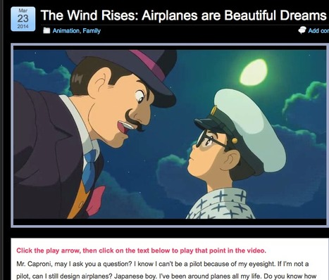 The Wind Rises: Airplanes are Beautiful Dreams »  A 56 seconds Japanese animation Simple English Videos elementary to advanced | Brainfriendly, motivating videos to learn English B1 B2 and over (European standard) | Scoop.it