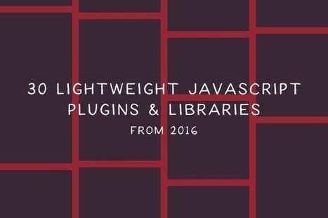 30 Lightweight JavaScript Plugins and Libraries from 2016 | El Mundo del Diseño Gráfico | Scoop.it