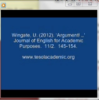 Ursula Wingate (2012) - On Argumentation | Useful Websites for Teaching | Scoop.it