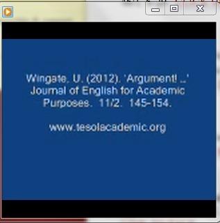 Ursula Wingate (2012) - On Argumentation | The EAP Practitioner | Scoop.it