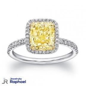 1.74 Carat Cushion Cut Fancy Light Yellow VVS2 100% Natural Diamond Ring CT IGL Certified Immaculate!! | jewelrybyraphael | Scoop.it