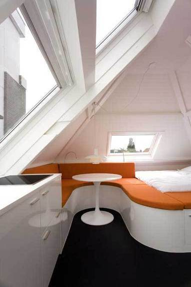 Apartments Category : Awesome Small Apartment Design With Orange And White Color, apartment designs for small spaces, interior design small apartment ideas ~ www.grubtoe.com | Interior Home Design | Scoop.it