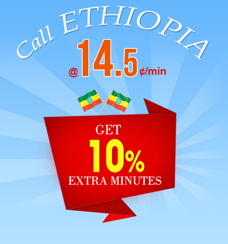 Get 10% Extra Minutes to Call Ethiopia | Cheap International Calling | Scoop.it