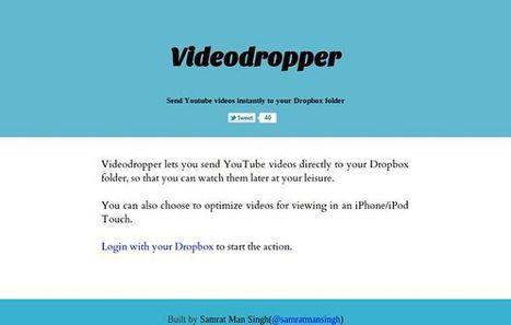 VideoDropper | para descargar vídeos de YouTube a Dropbox | MLKtoSCL | Scoop.it