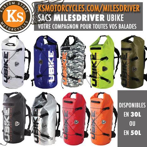 Kustom Store Motorcycles: Nouveauté chez KS Motorcycles: les sacs MILES DRIVER UBIKE | Kustom Store Motorcycles | Scoop.it