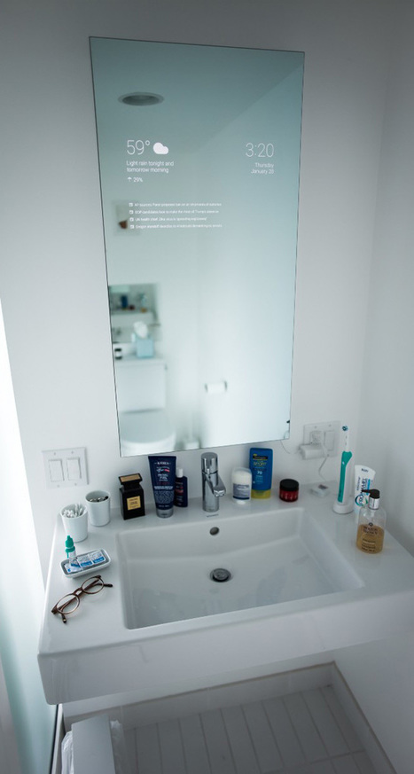 Awesome: Google Now Bathroom Mirror | internet marketing | Scoop.it