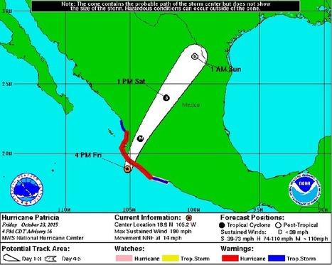 The strongest hurricane ever recorded is about to hit Mexico   Enseñar Geografía e Historia en Secundaria   Scoop.it