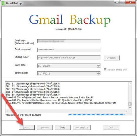 Sauvegarder vos messages Gmail sur son PC - Backup   Au fil du Web   Scoop.it