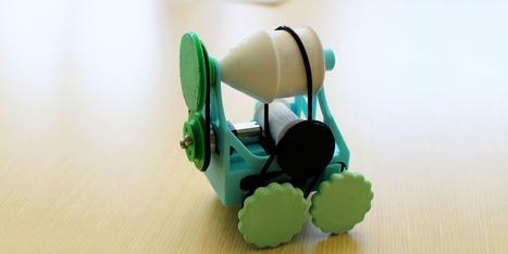 Un robot-jouet mécanique à imprimer soi-même - H+ Magazine | Ressources pour la Technologie au College | Scoop.it