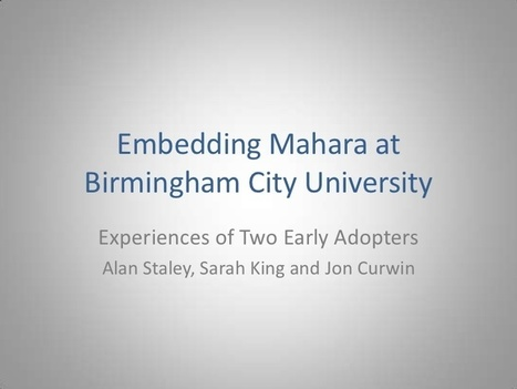 Embedding Mahara at Birmingham City University | Ngoding | Mahara ePortfolio | Scoop.it