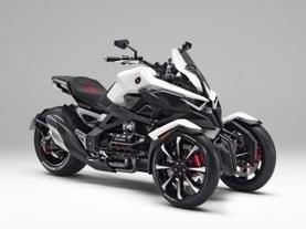 Honda reveals design of their three-wheeled concept bike - MotorbikeTimes | Piques My Interest | Scoop.it