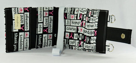 Women's Wallet  Organizer with Card Slots - 2 in 1 - Pink Ribbon - White and Black Breast Cancer Awareness | Tramp Lee Designs Bags | Scoop.it