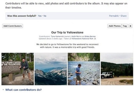 Nouvelle fonctionnalité sur Facebook : l'album collaboratif | Digital & Com | Scoop.it