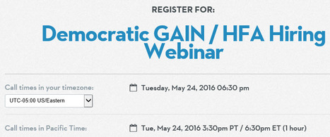 """Democratic GAIN / HFA Hiring Webinar"" 