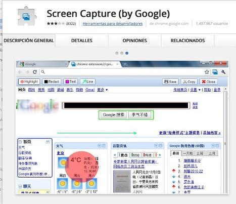 Sreen Capture (by Google) | Infografía. Google Chrome y sus extensiones en la Educación | Scoop.it