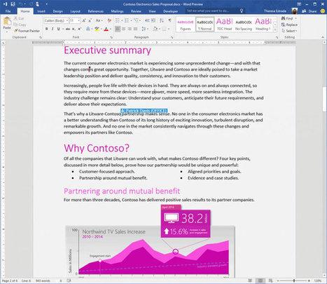 Office 2016 : les nouveautés de la Public Preview | Médias sociaux & Marketing digital | Scoop.it