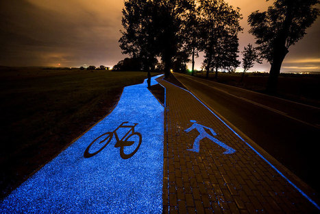 Poland Unveils Glow-In-The-Dark Bicycle Path That Is Charged By The Sun | Communication design | Scoop.it