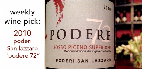 "2010 Poderi San Lazzaro Rosso Piceno ""Podere 72"" 