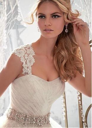 [199.99] Charming Tulle & Satin A-line Sweetheart Raised Waistline Wedding Dress - Dressilyme.com | Wedding dresses | Scoop.it